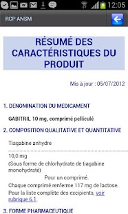 Dictionnaire du Médicament- screenshot thumbnail