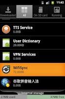 Screenshot of WifiSync
