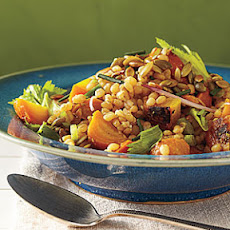 Golden Beet Salad with Wheat Berries and Pumpkinseed Vinaigrette