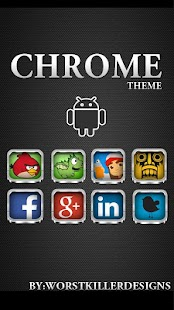 App CHROME APEX NOVA GO ADW THEME APK for Kindle