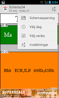 Screenshot of Schema24 - Skolschema för alla