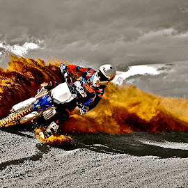 Color Splash Berm Blasting by Zachary Zygowicz - Sports & Fitness Motorsports
