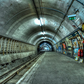 Underground - I  by Inayat Shah - Buildings & Architecture Decaying & Abandoned ( subway, london, tube, metro, underground )
