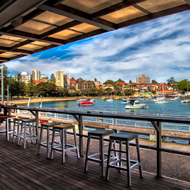 Manly by Loredana  Smith - City,  Street & Park  Neighborhoods ( sailing, sea, nsw, architecture, view, bar, sailboat, city )
