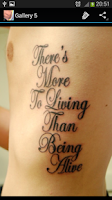 Screenshot of Tattoo Quotes