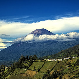 Morning near Semeru by Agus Sudharnoko - Landscapes Mountains & Hills