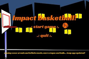 Screenshot of Basketball Games Impact Shot