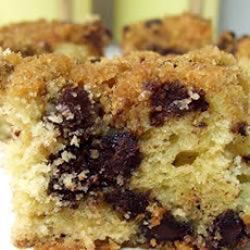 Chocolate Chip Cake with Crumble Crunch Topping