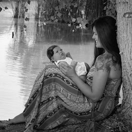 Adore a Mothers Love by Jessica Elizabeth - People Family ( mother, arizona, baby, pond, just divine photography )