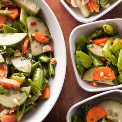 Snap Pea Chopped Salad with Thai Vinaigrette