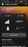 Screenshot of Personal Hotspot