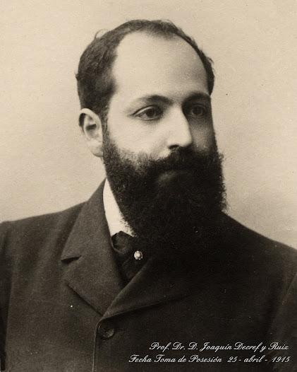 Fotografiá del Dr. D. Joaquín Decref y Ruiz para la colección de retratos de académicos numerarios el día de la toma de posesión de su plaza en la Real Academia Nacional de Medicina.