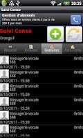 Screenshot of Suivi Conso