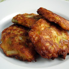 Leek and Walnut Fritters
