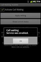 Screenshot of Call Waiting Enabler