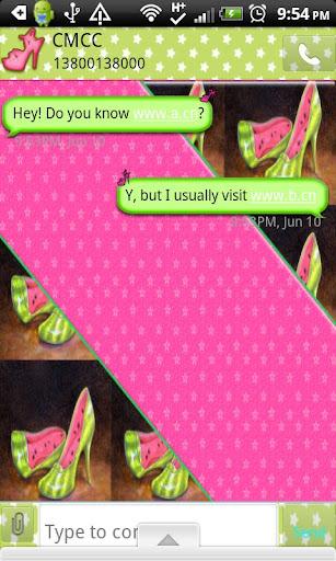 GO SMS THEME GirlyFruit