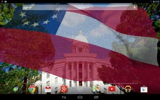 Screenshot of Rebel Flag Live Wallpaper Free