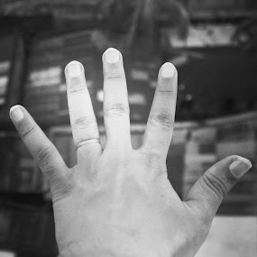 by Shiful Riyadh - Black & White Abstract ( abstract, hand, instagram, mobile photography,  )