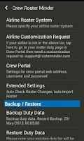 Screenshot of Roster Minder for Airline Crew