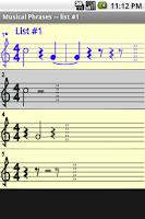 Screenshot of Musical Phrases