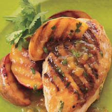 Grilled Chicken and Peaches with Chipotle-Peach Dressing