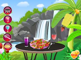 Screenshot of chicken kebab cooking games