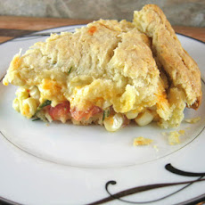 Heirloom Tomato and Corn Pie with Biscuit Crust