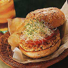 Toasted Almond Tofu Burgers