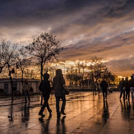 by Yaşar Ünlütaş - City,  Street & Park  Street Scenes ( clouds )