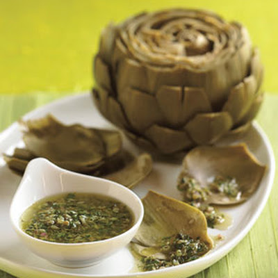 Steamed Artichokes with Salsa Verde