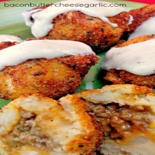 Stuffed Mashed Potato Balls (Papas Rellenas).