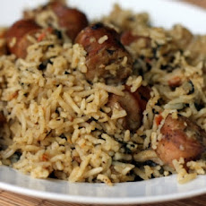 Bratwurst and Rice