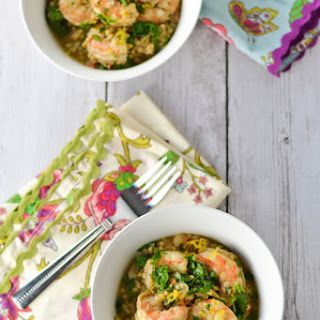 Slow Cooker Sorghum Risotto with Shrimp & Artichokes