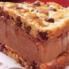Chocolate-Chip Ice-Cream-Sandwich Cake with Butterscotch Sauce