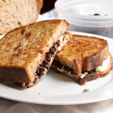 Grilled Mozzarella Sandwich with Anchovy-Olive Tapenade