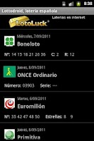 Screenshot of Lottodroid loterias y apuestas