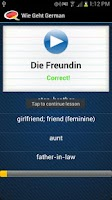 Screenshot of Learn German - Wie Geht's