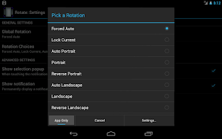 Screenshot of Rotation Control (License)