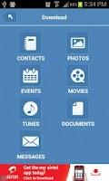 Screenshot of Backup Text, Contacts, Media