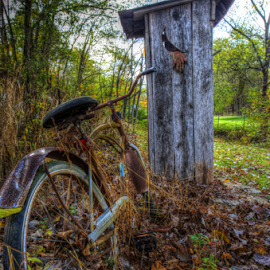 How Long You Gonna Be In There? by Ivan Gibson - Transportation Bicycles