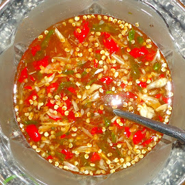 Fish Sauce by Nguyen Trong - Food & Drink Cooking & Baking ( fish sauce, garlic, fresh spring roll, chili, sugar, lemon )