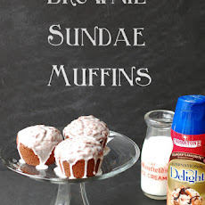 Brownie Sundae Muffins