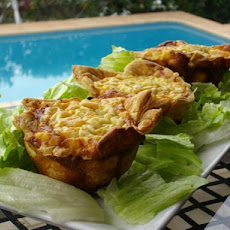 Mushroom, Spinach and Ham Tarts/Quiches