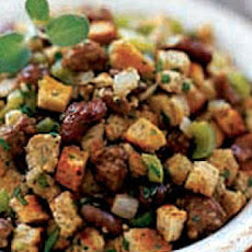 Raffy's Turkey Sausage and Chestnut Stuffing