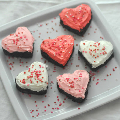 Easy Frosted Valentine's Brownies