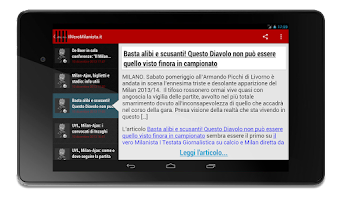 Screenshot of Milanews Milan News