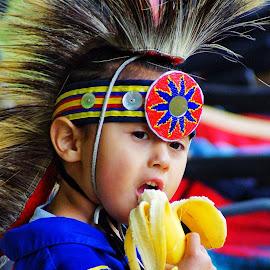 Nomnomnom by Donna Green - Babies & Children Child Portraits ( child, washington, puyallup, boy, powwow, native american )
