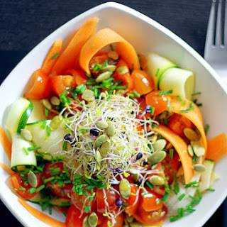 Carrot and Zucchini Linguini Salad