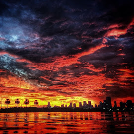 Miami Sunset!!!!! by Nicolas Donadio - Landscapes Cloud Formations