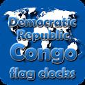 Dem. Rep. Congo flag clocks icon